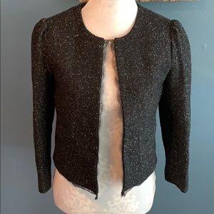 Gorgeous LOFT Wool Blazer w/Lace Trim